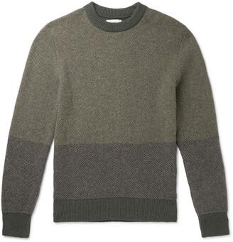 Oliver Spencer Blenheim Striped Melange Wool Sweater