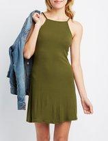 Charlotte Russe Backless Bib Neck Shift Dress