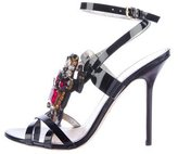 DSQUARED2 Patent Leather Embellished Sandals