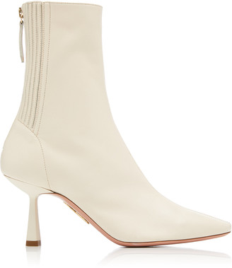 Aquazzura Curzon Leather Ankle Boots
