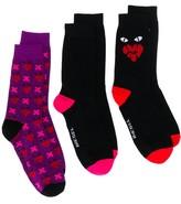 Diesel three-pair graphic print ankle socks
