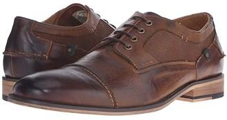 Steve Madden Jagwar (Tan Leather) Men's Lace Up Wing Tip Shoes