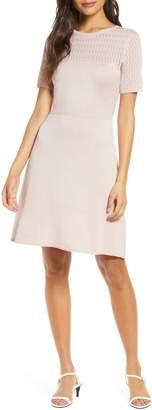 Julia Jordan Fit & Flare Sweater Dress