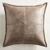 Pier 1 Imports Faux Marbled Leather Brown Pillow