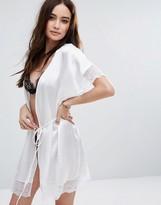 Glamorous White Satin Robe