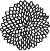 Chilewich Dahlia Coaster Set Of 6 Black