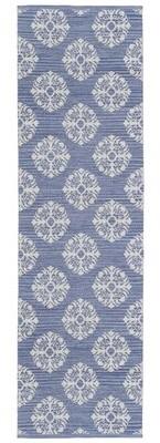 "Blue Area Jacquard Handmade Rug St. Croix Rug Size: Runner 2'6"" x 12'"