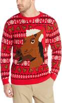 Alex Stevens Men's Happy Holidays Horse Sweater