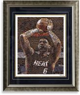 Bed Bath & Beyond Lebron James Framed Limited Edition 16-Inch x 20-Inch Mosaic Collage Photo