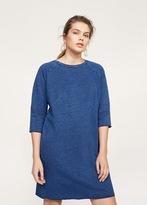 Violeta BY MANGO Lurex sweatshirt dress