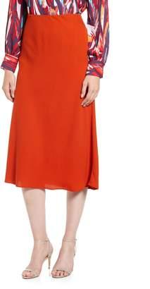 Halogen Bias Cut A-Line Midi Skirt