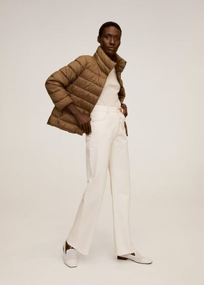MANGO Quilted jacket caramel - XS - Women