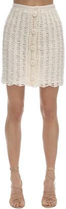 Liya Open Lock Crochet Mini Skirt