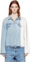 Off-White Blue & White Denim Splice Jacket