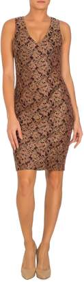 GUESS Embroidered Floral Lace Sheath Dress