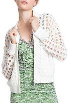 Tracy Reese Cotton Cutout Varsity Jacket