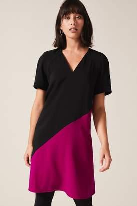 Phase Eight Womens Black Jodina Colourblock Dress - Black