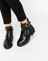 Aldo Chunkly Buckle Boots