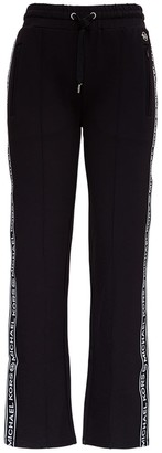 MICHAEL Michael Kors Modal Blend Trousers With Logoed Side Bands