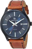 Rip Curl Men's Quartz Stainless Steel and Leather Sport Watch, Color:Brown (Model: A3014-NAV)