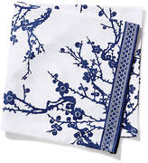 One Kings Lane Set of 4 Quince Dinner Napkins - Blue/White