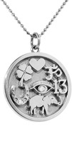 Jennifer Meyer Good Luck Charm Necklace - White Gold