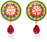 Dolce & Gabbana Flower Clip Earrings