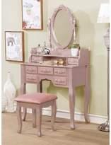 Provence Vanity Set with Mirror One Allium Way Color: Silver