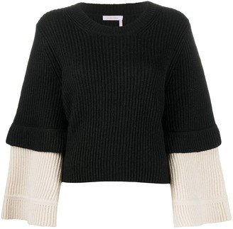 See by Chloe Contrasting-Cuff Jumper