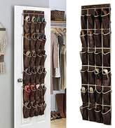 SmileyEU 24 Pockets Shoe Door Hanging Organiser Storage Rack Bag Box Wardorabe Hook Shoe Rack Door Hanger Shelves