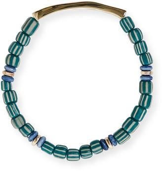 Akola Fearless Inspirational Gold & Beaded Stretch Bracelet
