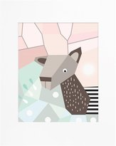 Nurseryworks Nursery Works Menagerie Cubist Art Print - Deer