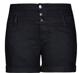 City Chic Hi Waist Short Short - Black