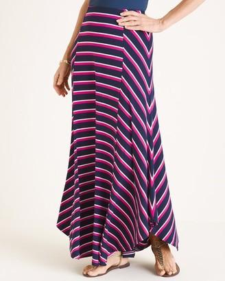Chico's Chicos Multi-Colored Striped Maxi Skirt