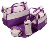Kylin Express Functional Waterproof Diaper Tote Bags For Mummy With 5 Pieces Set