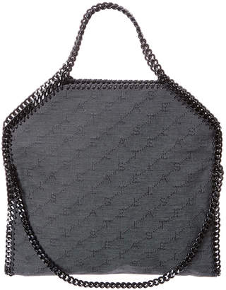 Stella McCartney Falabella Monogram Eco Denim Fold-Over Tote