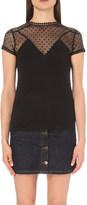 Maje Tribor cotton-blend t-shirt