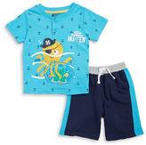 Nannette Baby Boys Treasure Hunter Tee and Shorts Set