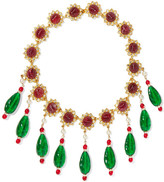 Kenneth Jay Lane Gold-plated Multi-stone Necklace - one size