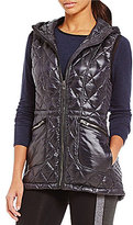 Calvin Klein Stand Collar Down Filled Hooded Quilted Vest