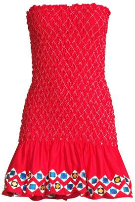 Alexis Fatima Shirred Strapless Mini Dress