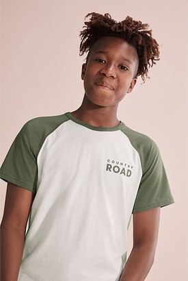 Country Road Teen Recycled Cotton Raglan Pyjama Set