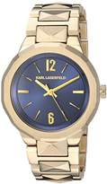 Karl Lagerfeld Women's 'Joleigh' Quartz Stainless Steel Casual Watch, Color:Gold-Toned (Model: KL3407)