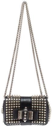 Christian Louboutin Back Leather Mini Spiked Sweet Charity Crossbody Bag