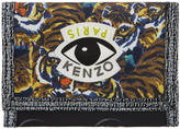 Kenzo Multicolor Flying Tiger Velcro Foldover Wallet
