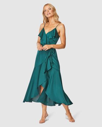 Pilgrim Women's Green Wrap Dresses - Adana Midi Dress - Size One Size, 8 at The Iconic
