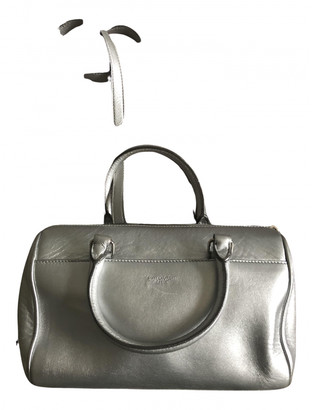 Saint Laurent Duffle Silver Leather Handbags