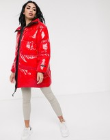 Juicy Couture oversized red padded jacket