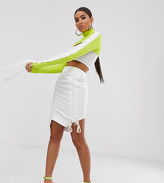 Wesley Harriott midi skirt with ruched side