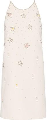 Miu Miu Embroidered Shift Dress